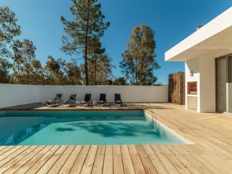 wood pool deck installation fresno ca